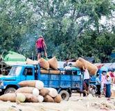 Lavoratori a Mandalay, Myanmar 1 Fotografia Stock