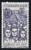 Lavoratori in marcia Immagini Stock Libere da Diritti