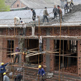 Lavoratori migranti Immagine Stock Libera da Diritti