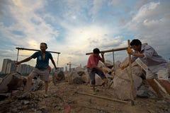 Lavoratori migranti Fotografia Stock Libera da Diritti