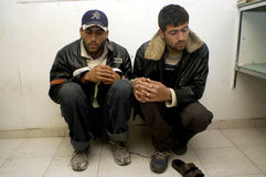 Lavoratori palestinesi illegali in Israele Fotografia Stock