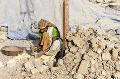 Lavoratrice indiana Fotografia Stock Libera da Diritti
