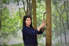 lavoratrice sorridente di agricoltura Fotografia Stock Libera da Diritti