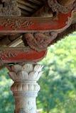 Lavorazione del legno orientale antica Immagine Stock