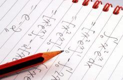 Lavori ad una domanda di matematica Fotografie Stock