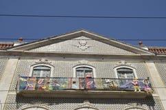 Lavori all'uncinetto dipende il balcone Fotografie Stock Libere da Diritti