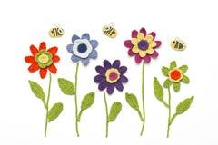 Lavori all'uncinetto i fiori Immagini Stock