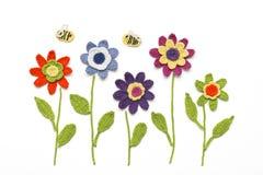 Lavori all'uncinetto i fiori Fotografia Stock Libera da Diritti