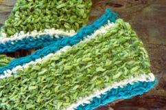 Lavori all'uncinetto la sciarpa Fotografia Stock Libera da Diritti