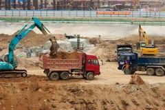 Lavori di costruzione Fotografia Stock Libera da Diritti