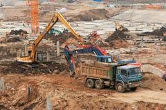 Lavori di costruzione Immagine Stock