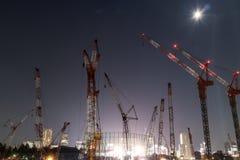 Lavori di costruzione che si preparano per Tokyo 2020 Olympics fotografie stock libere da diritti