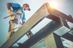Lavori di costruzione del legno Immagine Stock