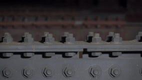 Lavori di costruzione Costruzione del ponte stock footage