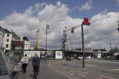 Lavori di costruzione di DENMARK_metro Immagini Stock Libere da Diritti