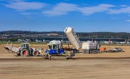 Lavori di costruzione nell'aeroporto di Zurigo Immagini Stock Libere da Diritti