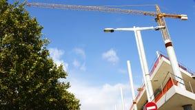 Lavori di costruzione di nuovo Encantes o Fira de Bellcaire a Barcellona Immagine Stock Libera da Diritti