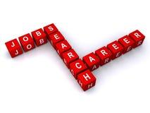 Lavori e ricerca di carriera Immagine Stock Libera da Diritti