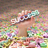 Lavori forzati a trovare successo Immagine Stock Libera da Diritti