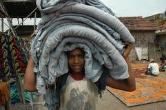 Lavori infantili in India. fotografie stock