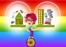 Lavori l'equilibrio di vita illustrazione di stock