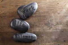 Lavori l'equilibrio di vita immagini stock