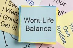 Lavori l'equilibrio di vita fotografie stock