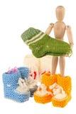 Lavori o indumenti a maglia del bambino Immagine Stock