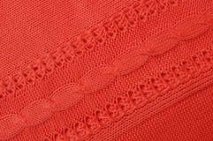 Lavori o indumenti a maglia rossi Immagine Stock Libera da Diritti