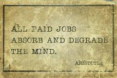 Lavori pagati Aristotele Fotografia Stock
