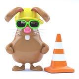 lavori stradali del coniglietto di 3d pasqua Fotografie Stock Libere da Diritti