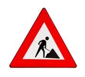 Lavori stradali del segnale stradale immagini stock