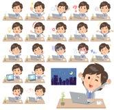 Lavoro blu del men_desk della maglia del rivestimento illustrazione di stock