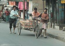 Lavoro in Calcutta Immagini Stock