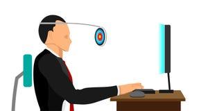 Lavoro con gli obiettivi nella vista normale illustrazione vettoriale