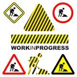 Lavoro in corso Immagini Stock Libere da Diritti