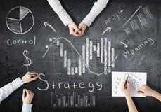 Lavoro creativo del gruppo di affari Immagine Stock