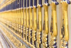 Lavoro d'acciaio curvo del cancello Fotografia Stock Libera da Diritti