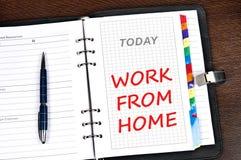 Lavoro dal messaggio domestico Fotografie Stock
