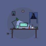 Lavoro dalla casa, notte Fotografia Stock Libera da Diritti