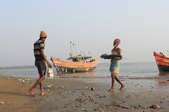 Lavoro dei pescatori Immagine Stock