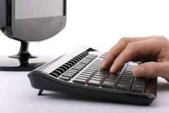 Lavoro del calcolatore Immagini Stock Libere da Diritti