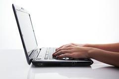Lavoro del computer portatile Fotografia Stock