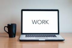 Lavoro del computer portatile Immagine Stock Libera da Diritti