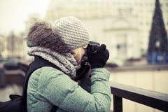 Lavoro del fotografo in lavorazione Fotografie Stock