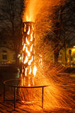 Lavoro del fuoco Immagine Stock