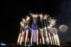 Lavoro del fuoco delle torrette del Kuwait Immagini Stock Libere da Diritti