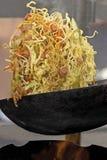 Lavoro del wok Fotografie Stock Libere da Diritti