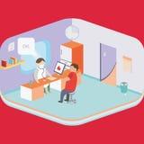 Lavoro dell'ospedale royalty illustrazione gratis