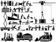 Lavoro dell'uomo dell'icona Fotografie Stock Libere da Diritti